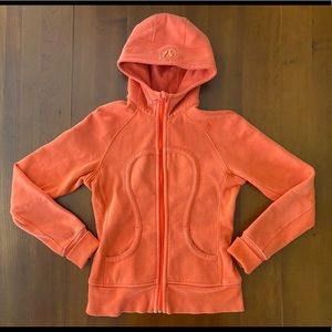 Women's Lululemon Scuba Hoodie Jacket Salmon 6 Zip